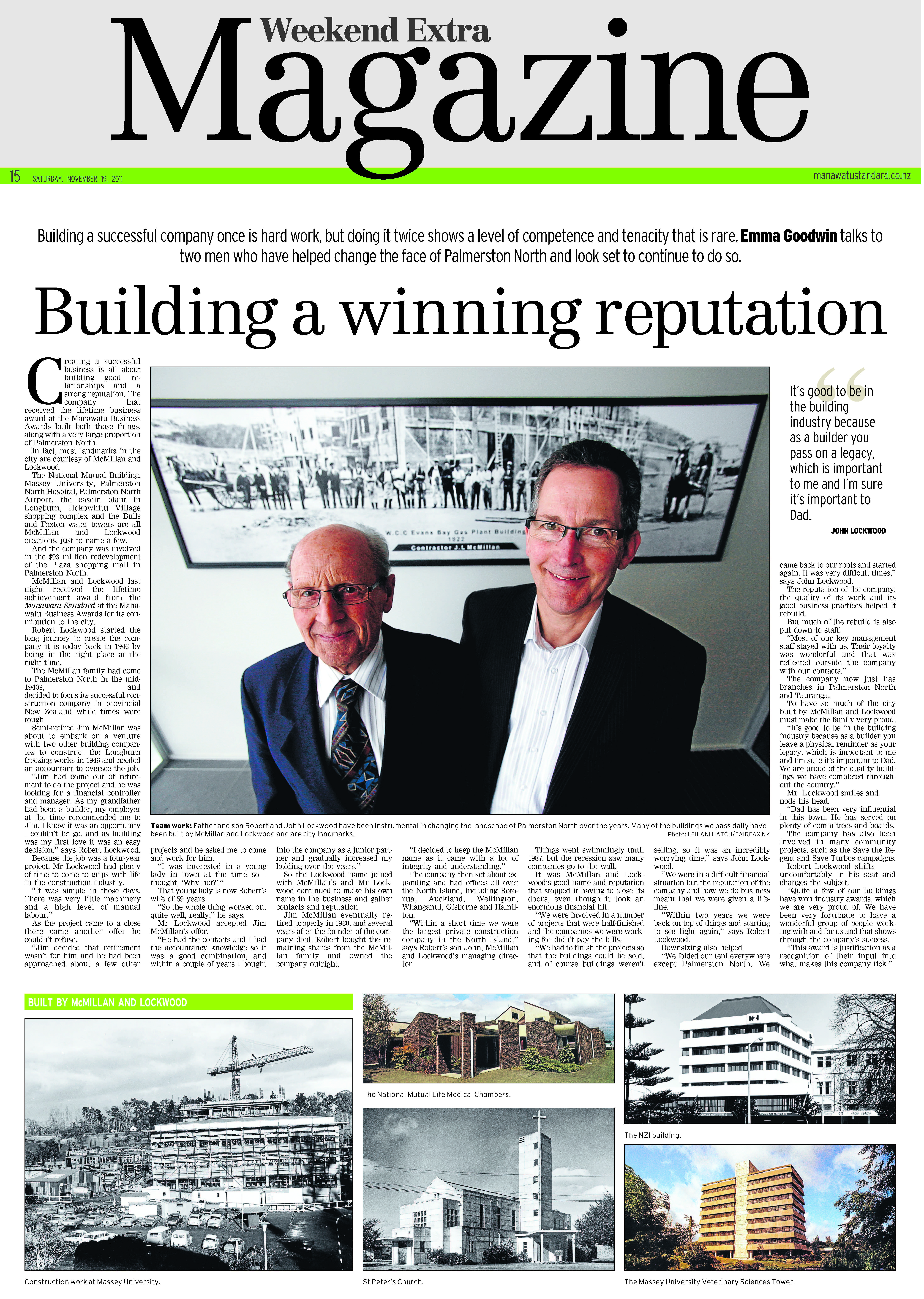 In the Press | McMillan and Lockwood